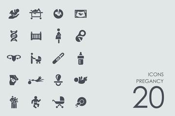 Set of pregancy icons