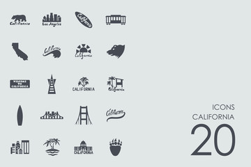 Set of California icons