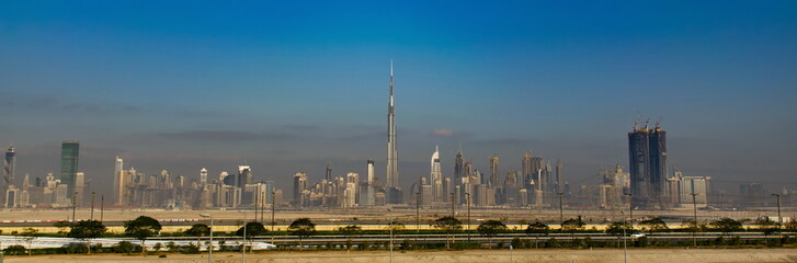 Skyline of Dubal in The United Arab Emirates