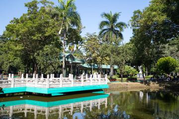 Chinese garden at Rizal park in Metro Manila, Philippines