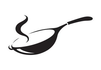 icon black pan, vector