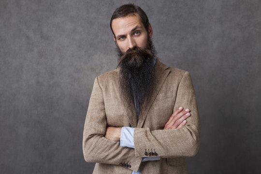 CEO with long beard
