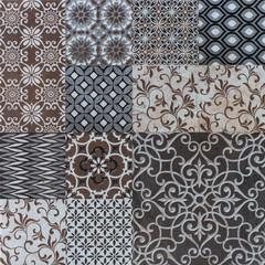 abstract mosaic tiles