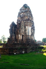 Archaeological site.Places that have flourished in the ancient past.Wat Phra Si Rattana Mahathat Lopburi Thailand.