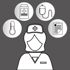 nurse medical service icon vector illustration graphic design