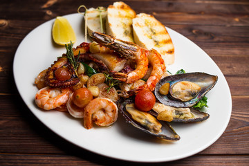 large plate of seafood