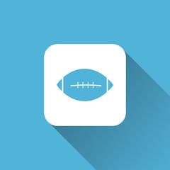american football helmet icon. flat style