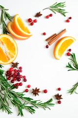 Winter warmer drink background
