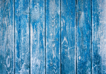 Dark blue wood texture background with old peeling paint