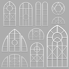 window frames set white