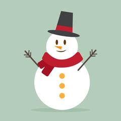 cute snowman. cartoon design. vector illustration