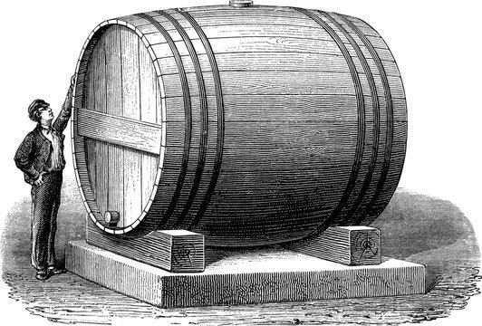 Vintage picture large barrel