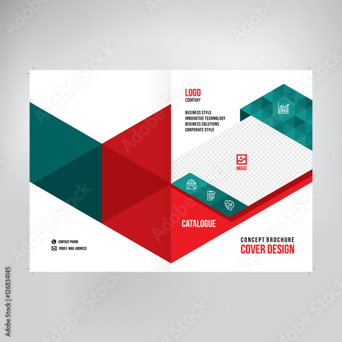catalogue cover design abstract graphic style business annual