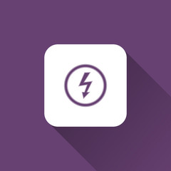 electricity icon. flat style