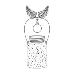 Mason jar icon. Christmas season decoration and celebration theme. Isolated design. Vector illustration