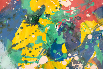 Close up of colorful simply abstract painting