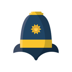 English police hat icon vector illustration graphic design