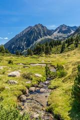 Hiking to Gerber Lake (Pyrenees Mountains, Spain).