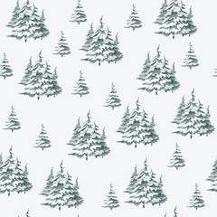 Seamless vintage Christmas pattern for gift wrap and fabric design