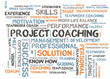 Project coaching word cloud