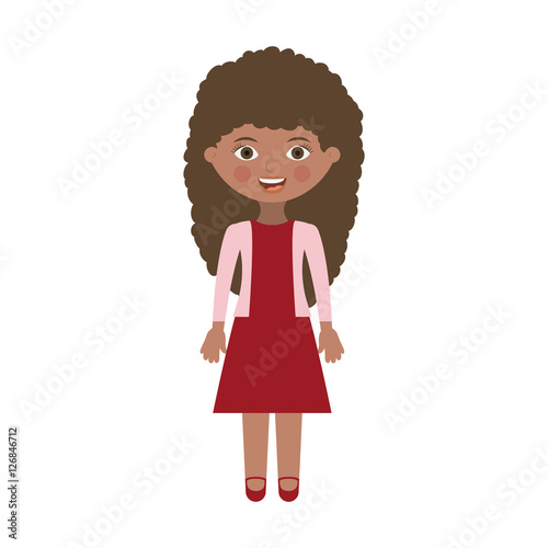 girl cartoon icon kid childhood little people and person theme