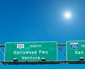 Hollywood freeway in Los Angeles