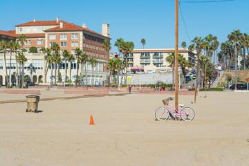 pink bike in Santa Monica