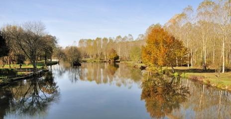L'Indre et ses jolis paysages à Monts en Indre-et-Loire près de Tours
