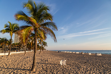 Gorgeous morning at the beach/ Very peaceful early Autumn morning at the Fort lauderdale baech.