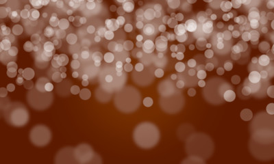 Abstract Background Defocused Spots Light Colors White Brown Bokeh Banner Long Web Design