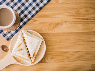 Sandwiches and coffee set.