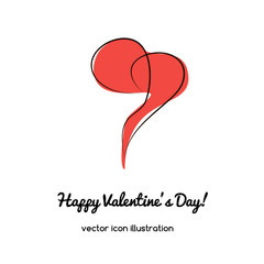 heart icon, vector illustration for st. valentines day