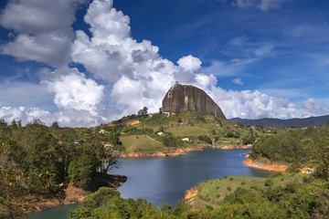 Wall Mural - The Rock El Penol near the town of Guatape, Antioquia in Colombia
