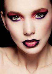 Beautiful woman beauty creative makeup fashion