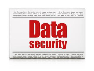 Safety concept: newspaper headline Data Security