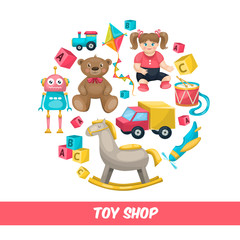 Toy Shop Round Composition