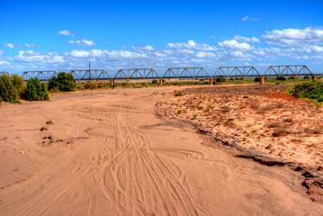 Railroad Bridge Gila River Arizona