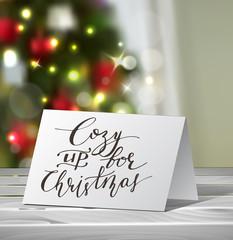 Christmas Greeting Card mock up