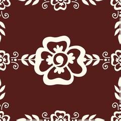 Mehendi pattern illustration