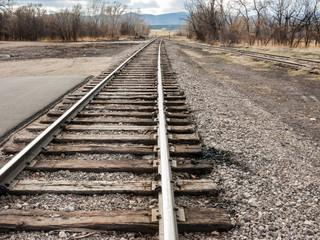 Converging Railroad  Tracks 1