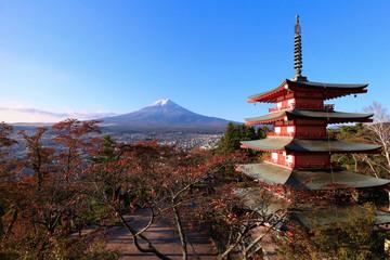 Keuken foto achterwand Bedehuis 忠霊塔と富士山