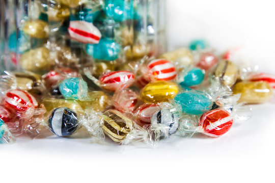 Wrapped Sweets by a Jar