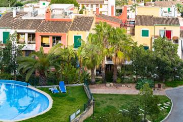 Architectural buildings on Balearic Island in Santa Ponca Majorca