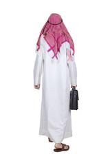 Arabian businessman walking in studio