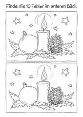 Fehlerbild Weihnachtsgesteck