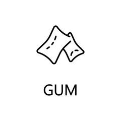 Gum flat icon or logo for web design.