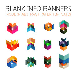 Banners, business backgrounds and presentations infographics