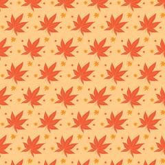 Vintage maple leaf the symbol of autumn season. Hand drawning ve