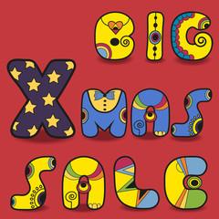 Big Xmas sale. Card for retail