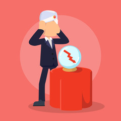businessman fortune telling failure future
